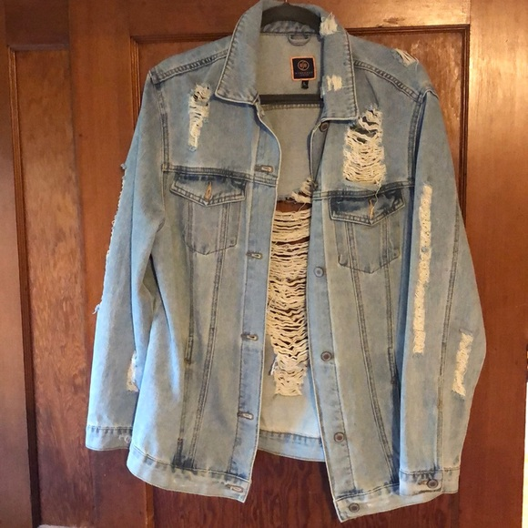 Boom Boom Jeans Jackets & Blazers - Oversized distressed denim jacket